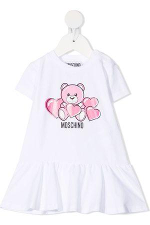 Moschino Teddy Bear-print flared dress