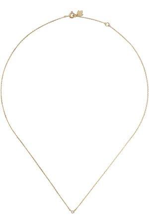 Feidt Paris 18kt yellow diamond bezel set necklace