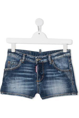 Dsquared2 TEEN faded-effect denim shorts