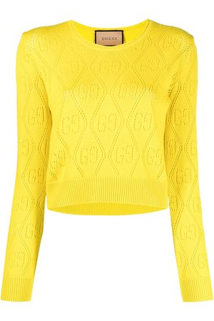 Gucci GG perforated fine-knit jumper
