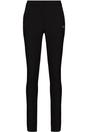 OFF-WHITE Logo-print slim-fit trousers