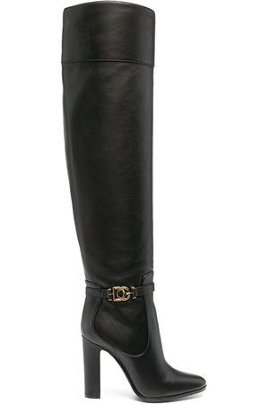 Dolce & Gabbana DG buckle knee-high boots