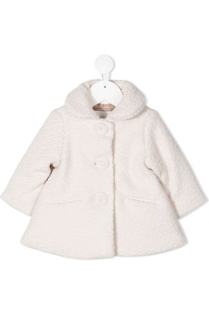 LA STUPENDERIA Faux-shearling single-breasted coat