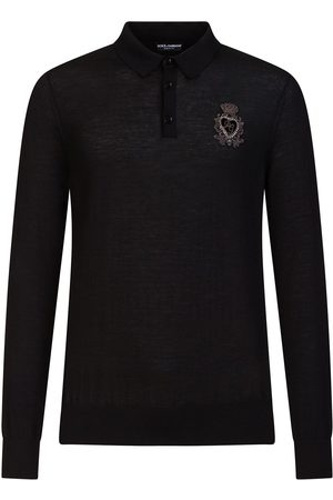 Dolce & Gabbana Embroidered logo long sleeved polo shirt