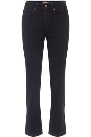 Pieces Mid-waist Straight Fit Jeans Dames