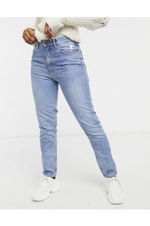 MiH Jeans MiH Mimi high rise straight leg jeans in midwash blue denim