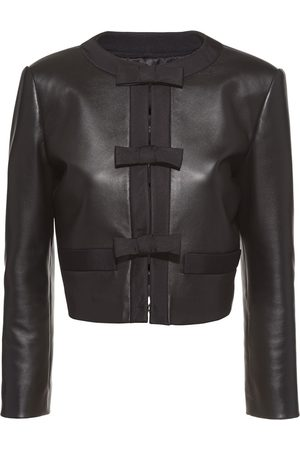 Miu Miu Bow-detail leather jacket