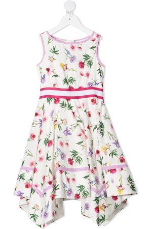 MONNALISA Floral print asymmetric dress