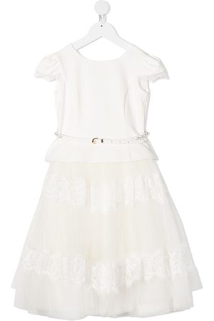 MONNALISA Flared tulle skirt princess dress