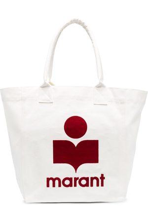 Isabel Marant Dames Shoppers - Flocked-logo cotton tote bag