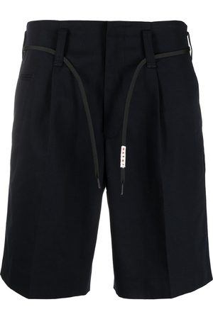 Marni Logo-print lace tied-waist shorts