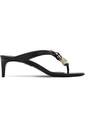 Dsquared2 50mm Punk Lock Leather Thong Sandals