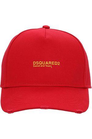 Dsquared2 Heren Petten - Logo Embroidered Cotton Gabardine Cap