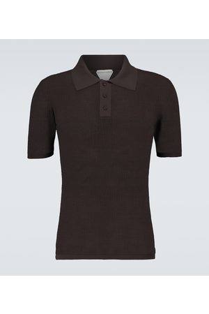 Bottega Veneta Short-sleeved mesh polo shirt