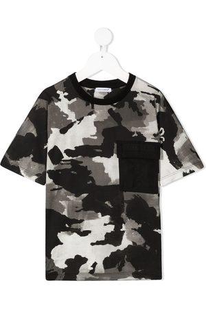 Dolce & Gabbana Jongens T-shirts - All-over painted camo T-shirt