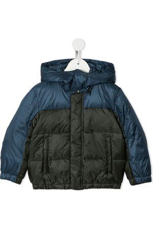 Emporio Armani Colour-block puffer jacket