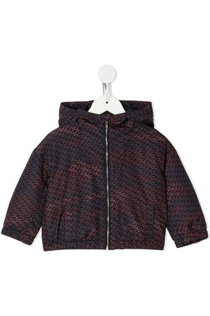 Emporio Armani Eagle-print hooded jacket
