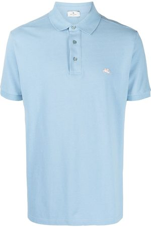 Etro Heren Poloshirts - Logo embroidered polo shirt