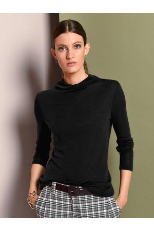 Fadenmeister Berlin Shirt van 100% scheerwol lange mouwen