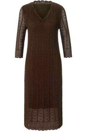 Mybc Dames Gebreide jurken - Gebreide jurk van 100% katoen 3/4-mouwen