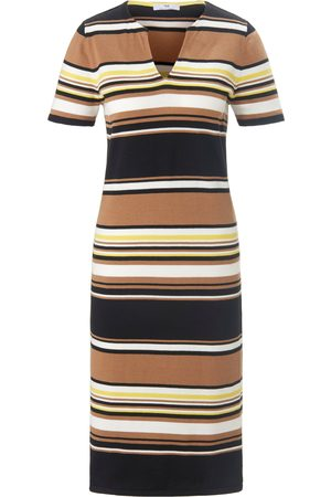 Peter Hahn Gebreide jurk van 100% katoen korte mouwen