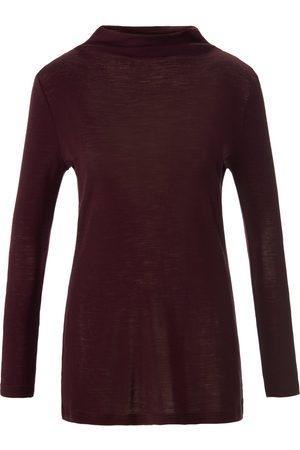 Fadenmeister Berlin Dames Lange mouw - Shirt van 100% wol lange mouwen