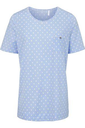 Rösch Pyjama van 100% katoen strepen en stippen turquoise