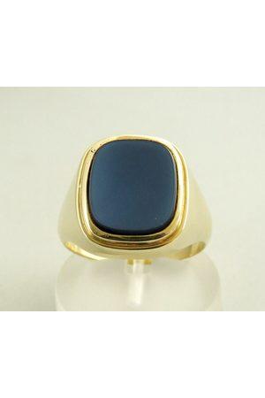 Christian Gouden ring met lichtblauwe lagensteen