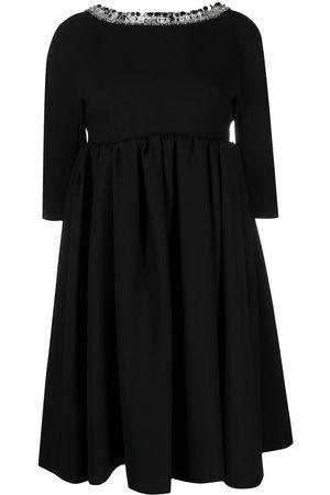 Prada Embellished collar babydoll dress