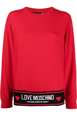 Love Moschino Dames Gebreide truien - Fine intarsia logo knit jumper