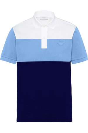 Prada Heren Poloshirts - Colour-block polo shirt