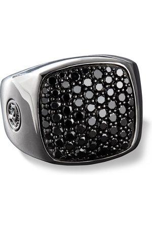 David Yurman Heren Ringen - Black diamond-embellished signet ring