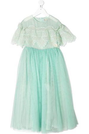 ELIE SAAB JUNIOR Meisjes Feestjurken - Tulle lace flounce gown