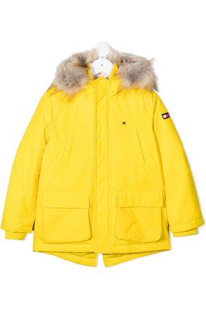 Tommy Hilfiger Faux fur-trimmed coat