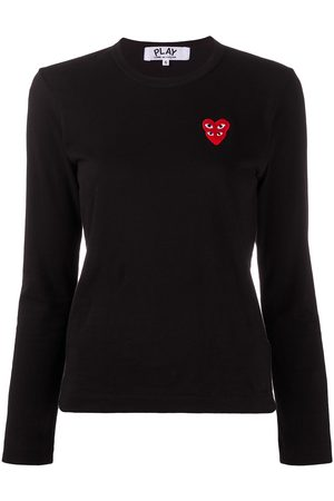 Comme des Garçons Dames T-shirts - Embroidered-logo longsleeved top