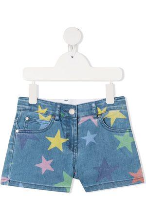 Stella McCartney Star-print denim shorts