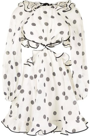 ZIMMERMANN Lovestruck polka-dot print mini dress