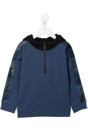 Emporio Armani Logo-print zip-up hoodie