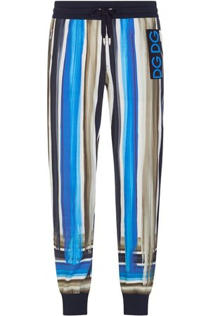 Dolce & Gabbana Stripe-pattern tapered track pants