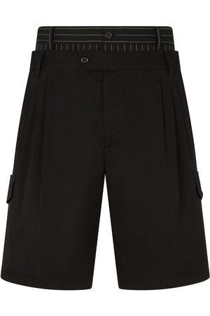 Dolce & Gabbana Double-waist cotton cargo shorts