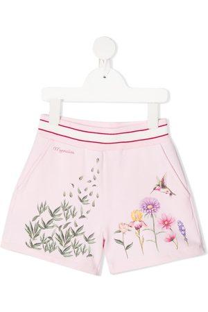 MONNALISA Floral patterned elasticated waist shorts