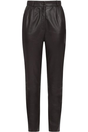 Dolce & Gabbana Dart-detailing leather trousers