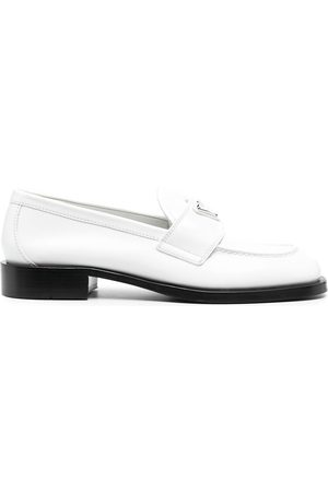 Prada Dames Loafers - Logo-plaque penny loafers