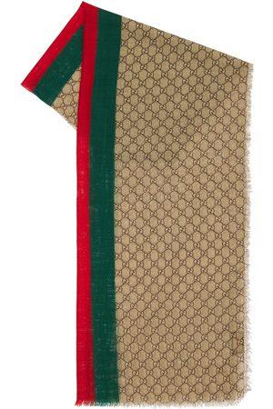 Gucci Gg Wool Stole W/ Web