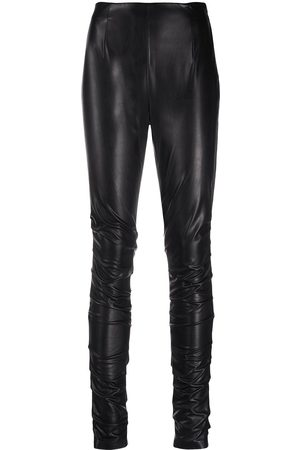 Dorothee Schumacher Leather-effect ruched leggings