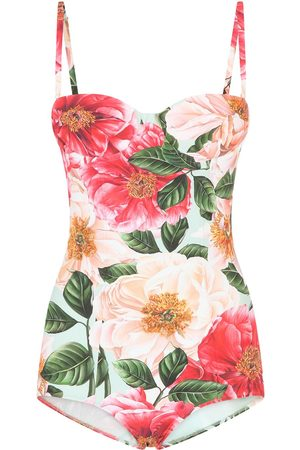 Dolce & Gabbana Floral-print one-piece