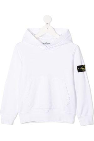 Stone Island Logo patch cotton hoodie