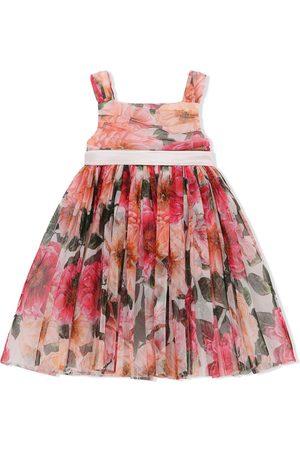 Dolce & Gabbana Floral-print pleated mini dress