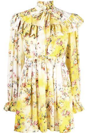Msgm Ruffled floral dress