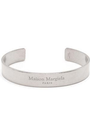 Maison Margiela Logo engraved cuff bracelet